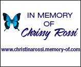 In Memory of Chrissy Rossi